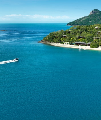 qualia aerial view during Sunset Cruise of Hamilton Island and surrounds